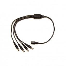 DC Kabel 1->4 Verteiler schwarz LED Steckverbinder 2,1 / 5,5 mm