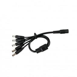 DC Kabel 1->5 Verteiler schwarz LED Steckverbinder 2,1 / 5,5 mm