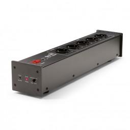 Dynavox X2000 schwarz HiFi Steckdosenleiste mit Netzfilter und Master-Slave-Funktion