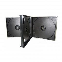4er CD-Box | CD Hüllen | 4fach Jewelcase schwarz