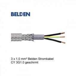 Belden Stromkabel Netzkabel CY 3G1.0 Geschirmt, transparent
