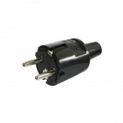 ABL Sursum Schukostecker Stromstecker IP 20 PVC Schuko Netzstecker 230V / 16A Schwarz