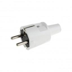 ABL Sursum Schukostecker Stromstecker IP 20 PVC Schuko Netzstecker 230V / 16A Weiß