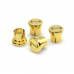 4er Dynavox High-End Cinch-Schutzkappen Set | 24 K vergoldet