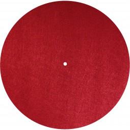 Dynavox Plattentellerauflage PM2 Filz | Ø 300 mm Plattenspieler Slipmat Rot