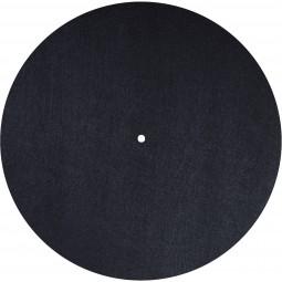 Dynavox Plattentellerauflage PM2 Filz | Ø 300 mm Plattenspieler Slipmat Schwarz