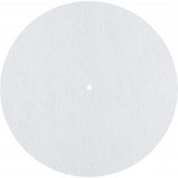 Dynavox Plattentellerauflage PM2 Filz | Ø 300 mm Plattenspieler Slipmat Weiß