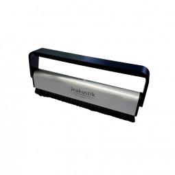 Inakustik Premium Kohlefaser Bürste für Schallplatten / LP Fiber Disc Brush