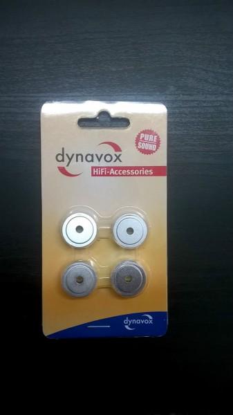 Hi-Fi Case Feet 4er-Set Dynavox Alu Gerätefüße midi Ø 30 mm silber Gerätefüsse