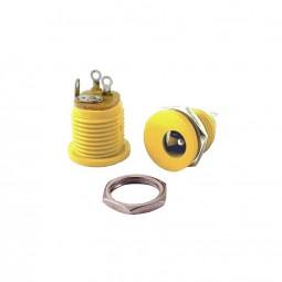 DC-Einbaubuchse gelb für Hohlstecker 2,1 x 5,5mm | Frontmontage einbau DC-Buchse